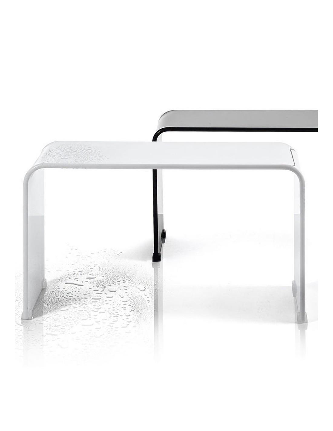 banc douche noir et blanc decor walther. Black Bedroom Furniture Sets. Home Design Ideas