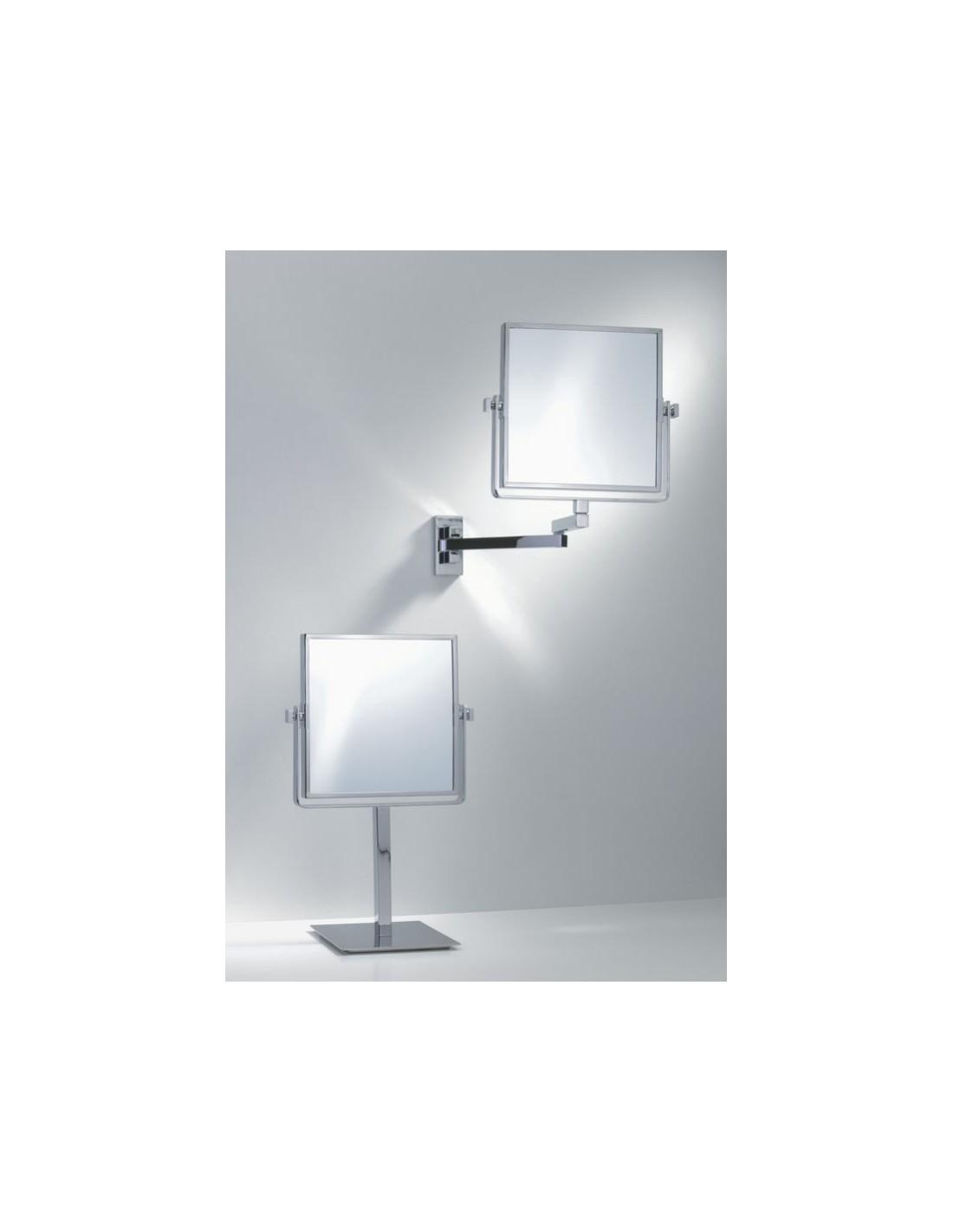 miroir grossissant carr. Black Bedroom Furniture Sets. Home Design Ideas