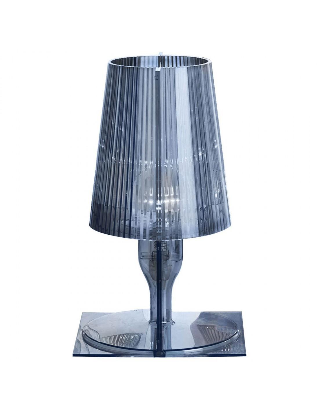 Lampe de table Take bleu grisé pour la marque Kartell