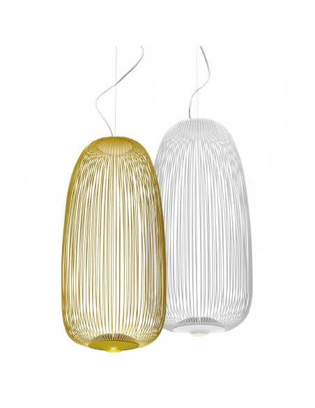 Suspension Spokes 1 or et blanche Foscarini Valente Design