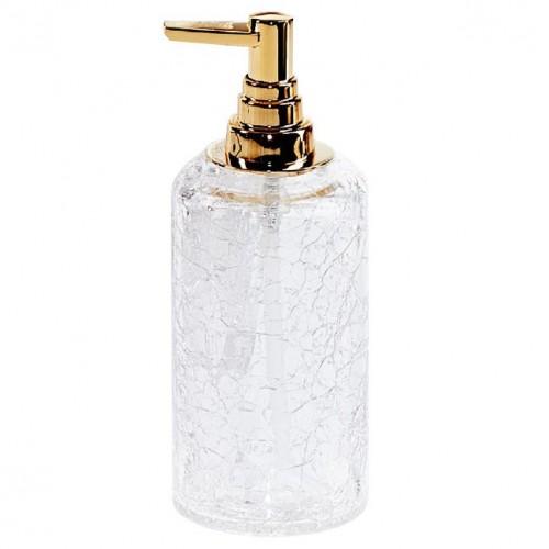 Distributeur de savon liquide Crack finition dorée