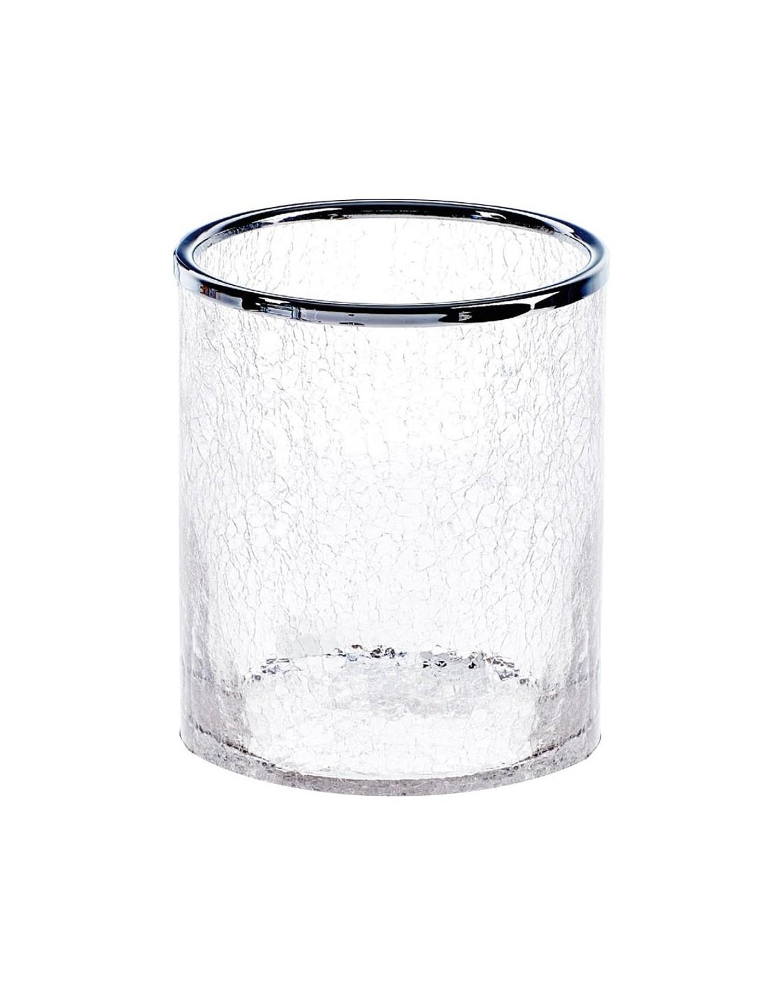 Poubelle Crack finition transparence et chromée Décor Walther