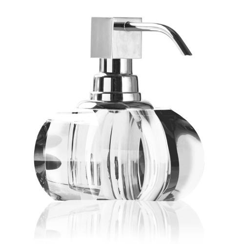 Distributeur de savon liquide Kristall finition chromée