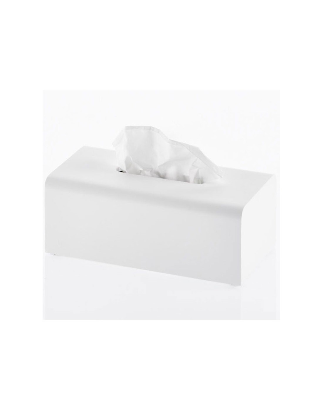 Boite à mouchoirs STONE en résine synthétique de couleur blanc mat de Decor Walther