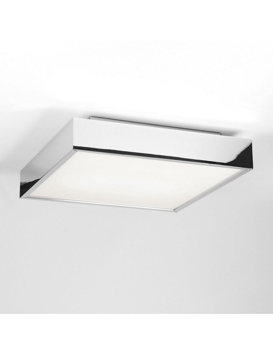 Plafonnier Taketa square LED chrome astro lighting
