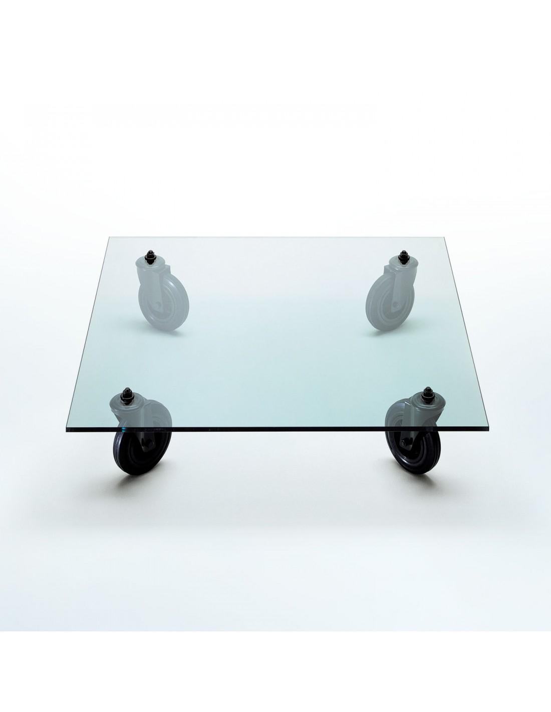 Table Tavolo Con Ruote L120 vue d'ensemble Fontana Arte