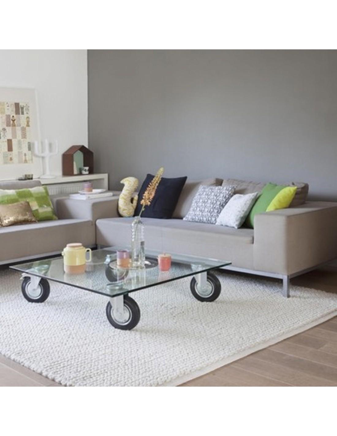 Table tavolo con ruote l120 ambiance salon fontana arte - Tavolo con ruote ...
