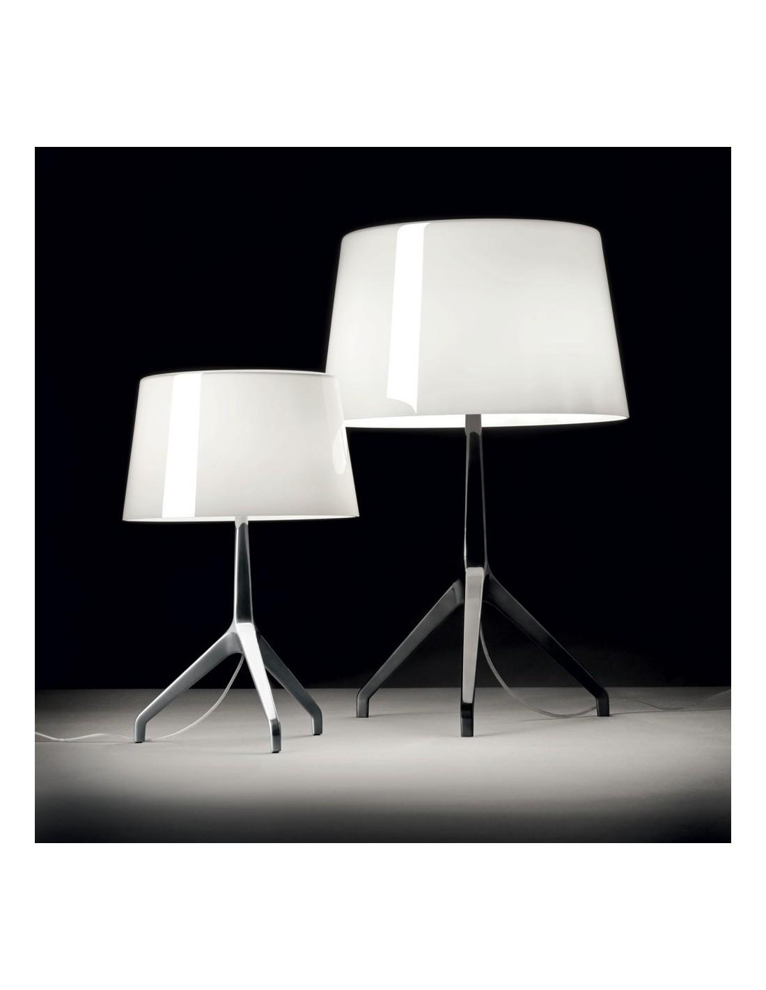 lampe de table lumi re xxs chrome noir blanc. Black Bedroom Furniture Sets. Home Design Ideas
