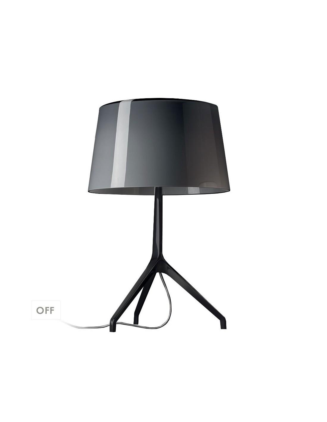 lampe de table lumi re xxs chrome noir. Black Bedroom Furniture Sets. Home Design Ideas