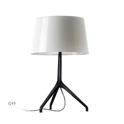 Lampe de table Lumière XXL Chrome noir
