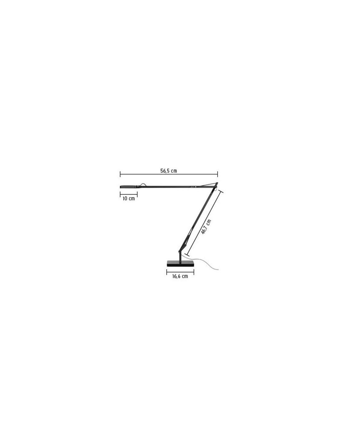 lampe de table kelvin led base plan de flos. Black Bedroom Furniture Sets. Home Design Ideas