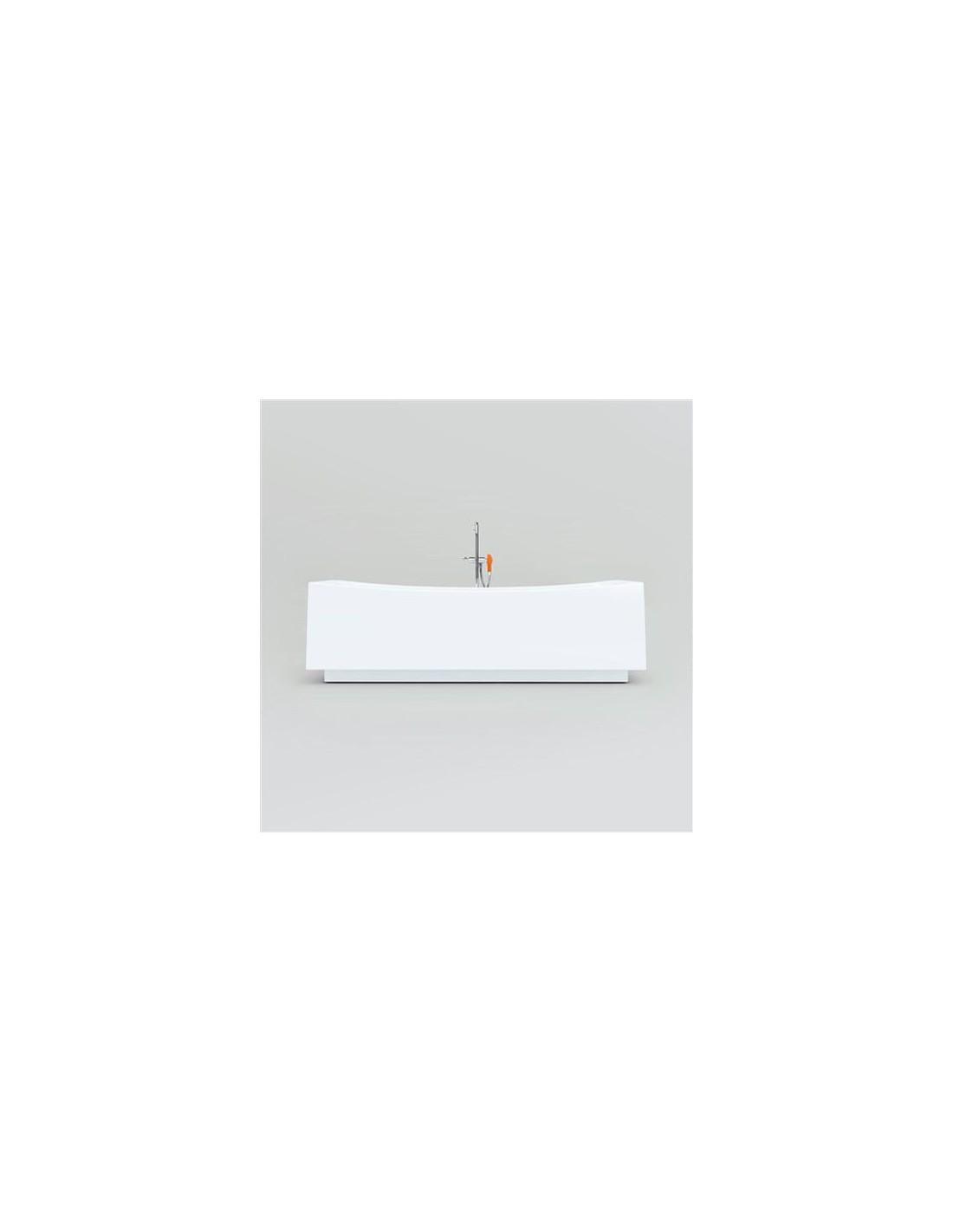 Baignoire îlot Hammock  en acrylique blanc pour la marque Clou