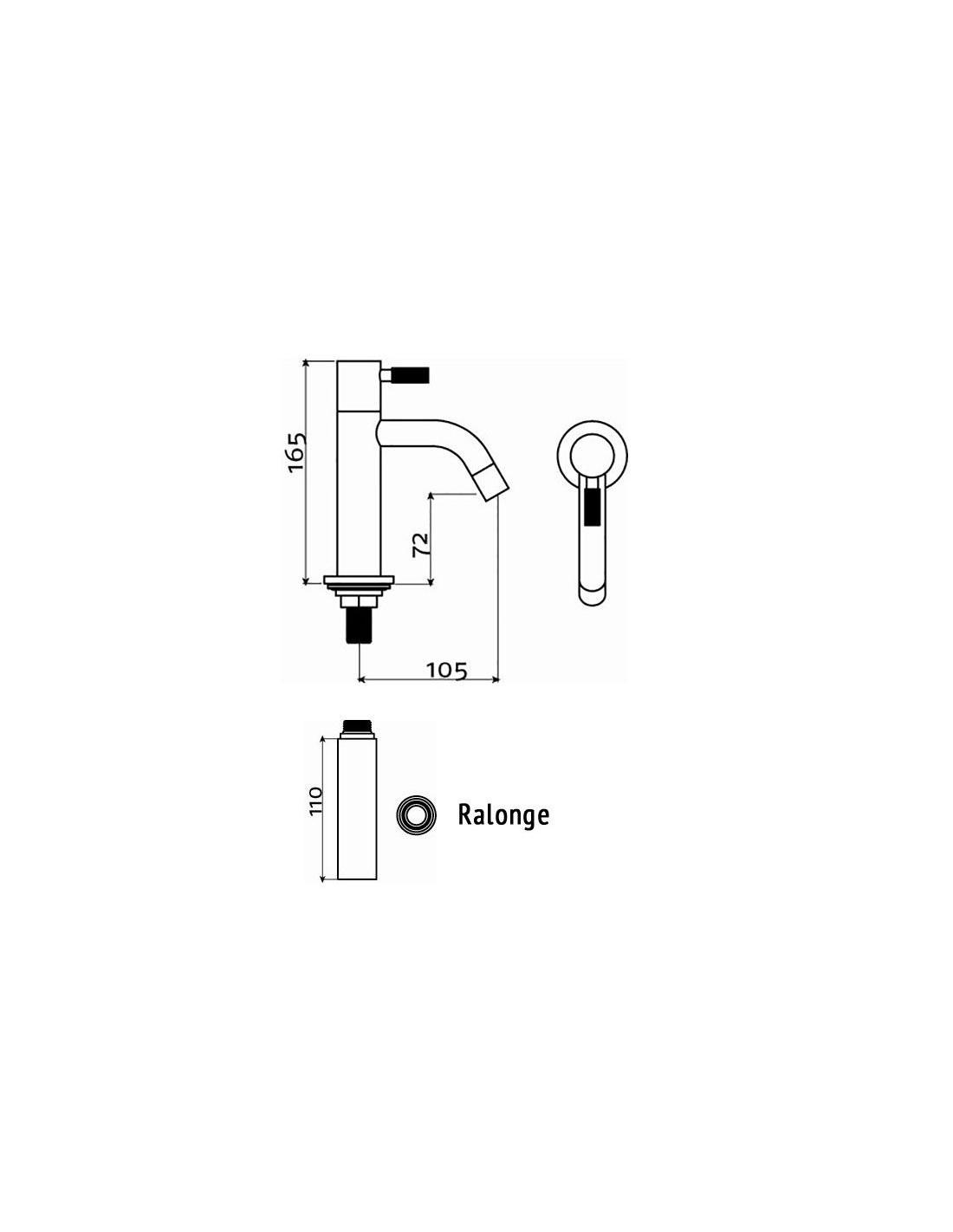 sch ma rallonge pour robinet eau froide freddo 2 pour la marque clou. Black Bedroom Furniture Sets. Home Design Ideas