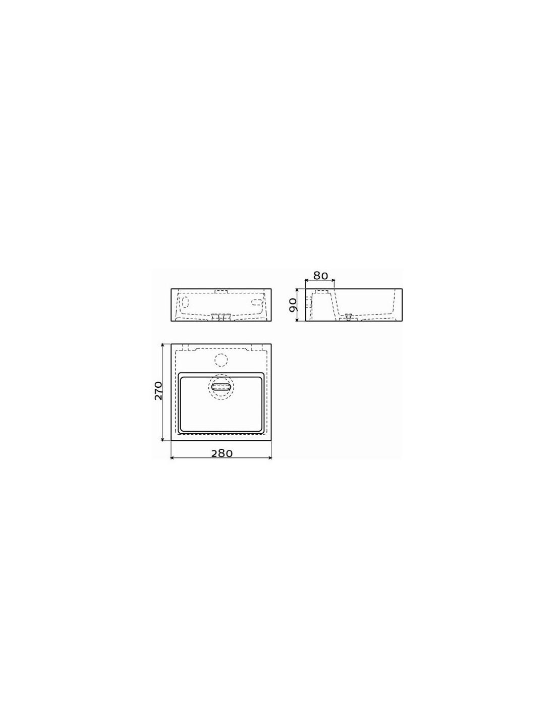 sch ma lave mains flush 1 pour la marque clou. Black Bedroom Furniture Sets. Home Design Ideas