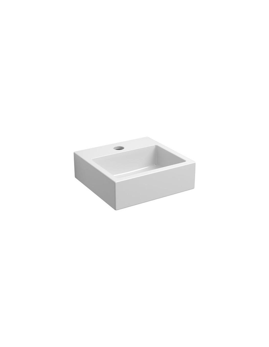 lave mains flush 1 c ramique blanc brillant pour la marque. Black Bedroom Furniture Sets. Home Design Ideas