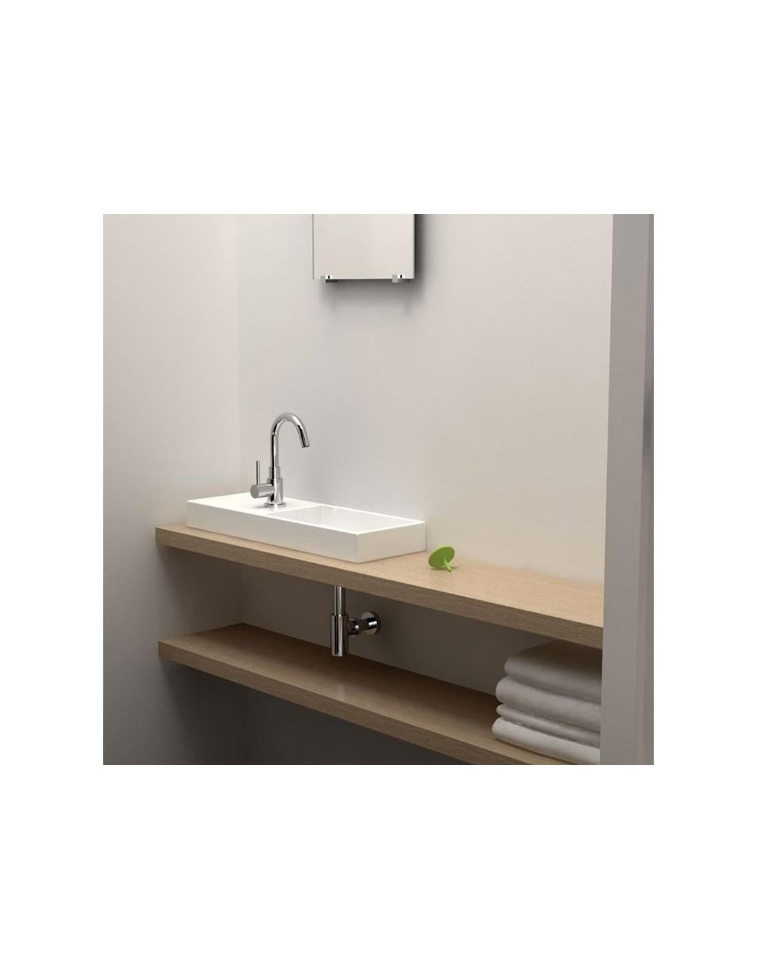 lave mains 45 cm mini wash me percement gauche en c ramique blanche pour la marque clou. Black Bedroom Furniture Sets. Home Design Ideas