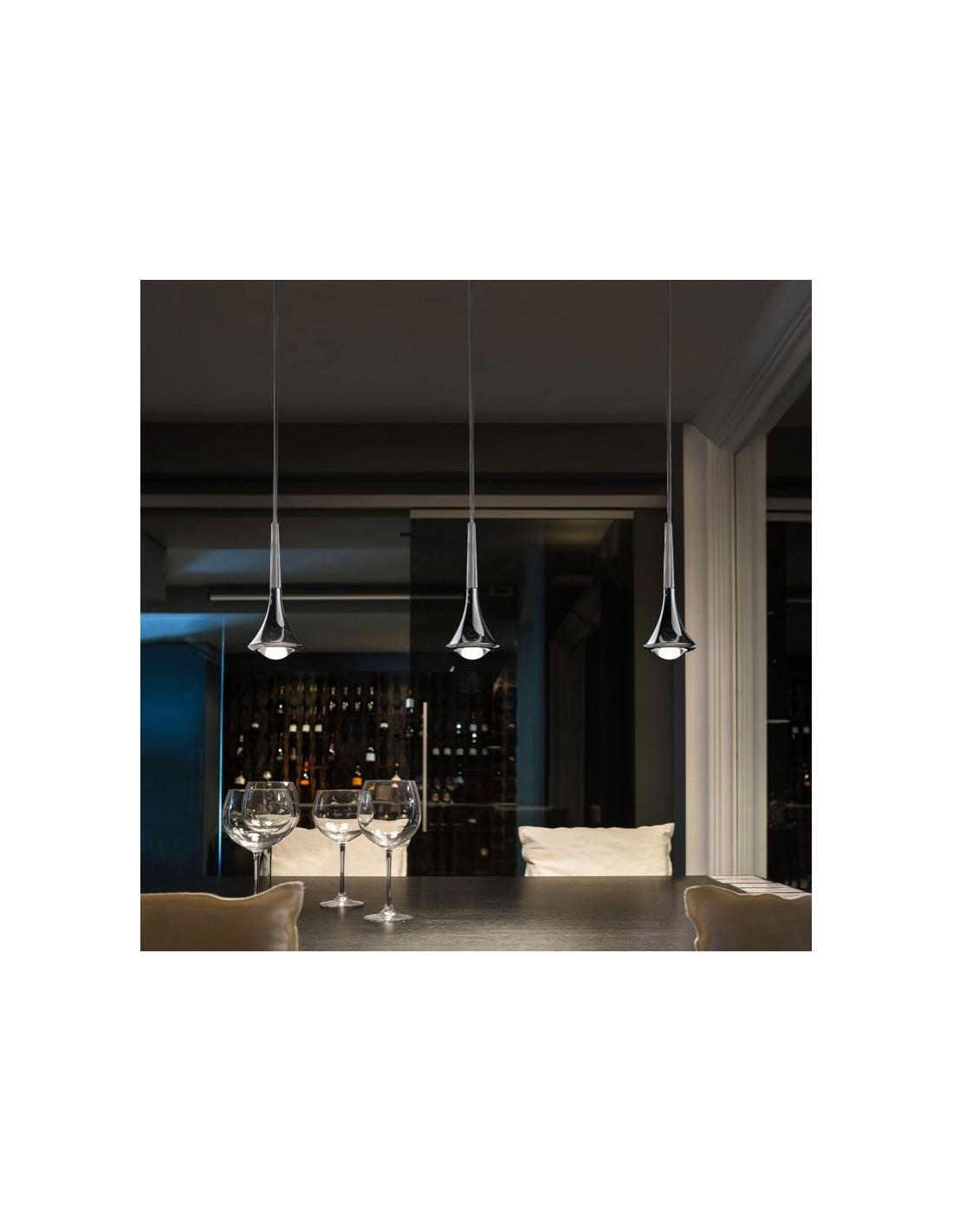La rain une suspension design salon led de studio italia design - Suspension design salon ...