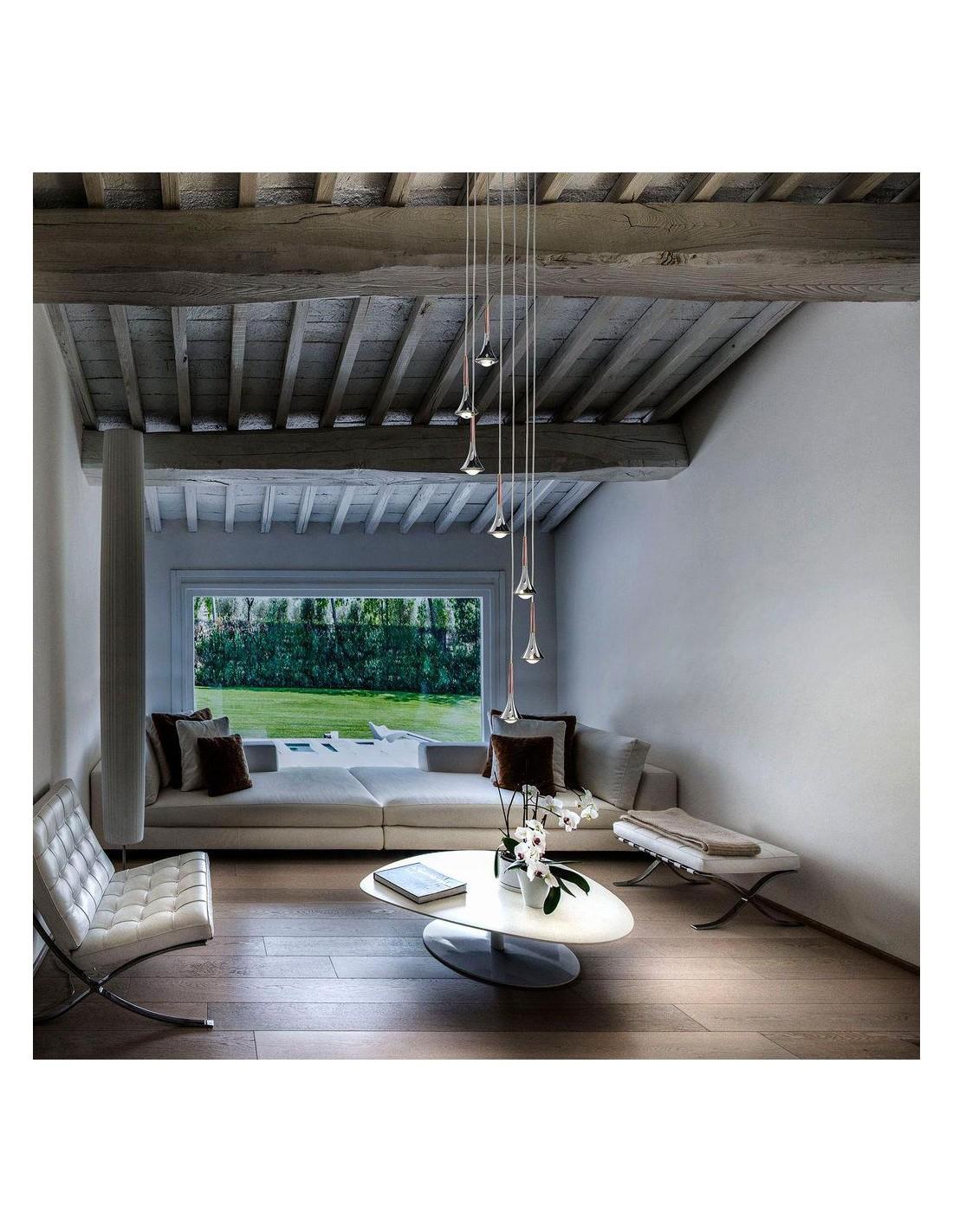 suspension rain 7 en bouquet de studio italia design. Black Bedroom Furniture Sets. Home Design Ideas