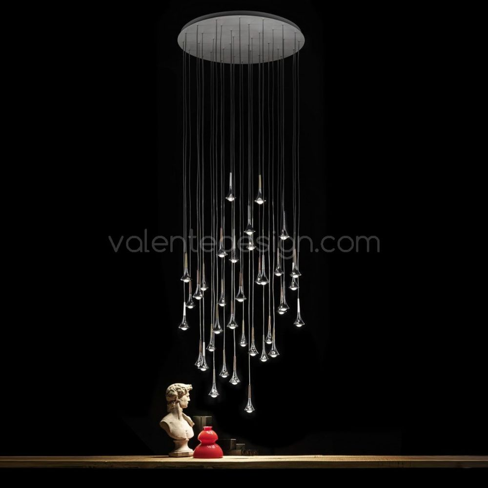 la f rique suspension led design rain de studio italia design. Black Bedroom Furniture Sets. Home Design Ideas