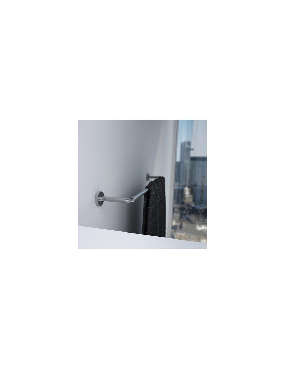 porte serviette 42 cm slim exemple en finition chrom e pour la marque clou. Black Bedroom Furniture Sets. Home Design Ideas