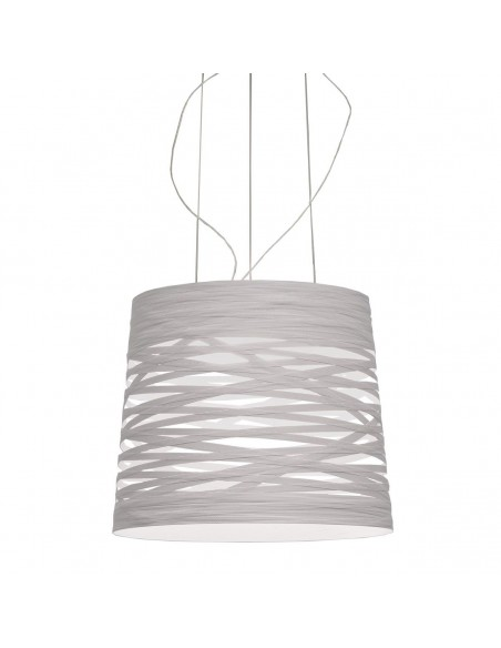 Suspension Tress Grande Led avec variateur Foscarini blanche