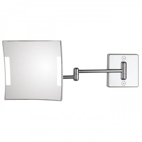 Miroir éclairant mural bras double Quadrolo Led
