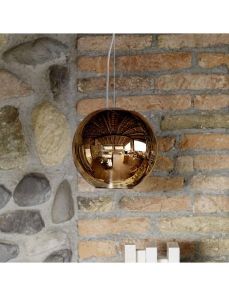 Suspension Globo Di Luce moyen modèle cuivre Fontana Arte