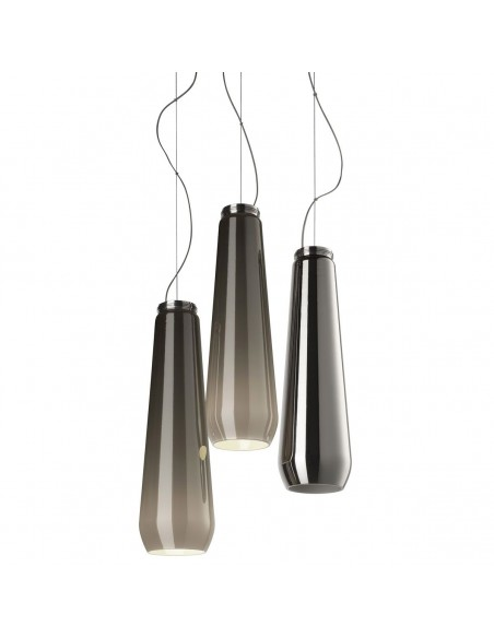 Suspension Glass Drop chrome Diesel Living Lodes Studio Italia Design Valente Design
