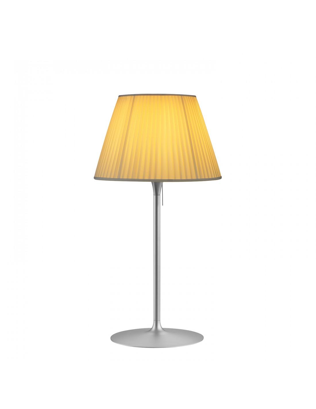 Lampe de table Roméo Soft T1 tissu plissé beige par Philippe Starck pour la marque flos chez Valente Design