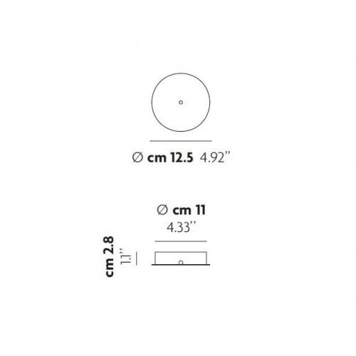 Patère ronde radiale pour 1 ou 2 suspensions