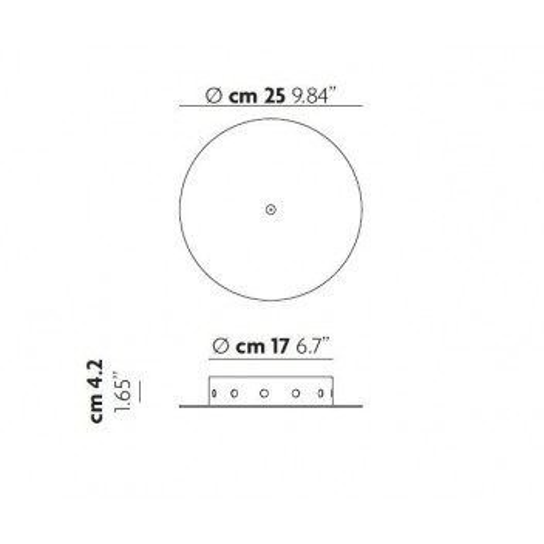 Patère ronde radiale pour 12 suspensions