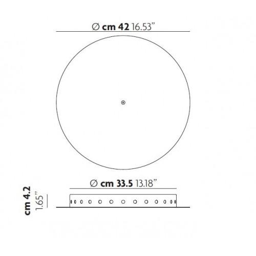 Patère ronde radiale pour 28 suspensions