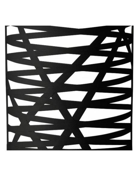 détails de l'applique tress grande de couleur noir du designer Marc Sadler pour la marque Foscarini chez Valente Design