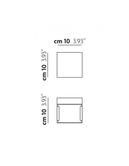 Applique / Plafonnier Laser Cube AP5  marque Studio Italia Design