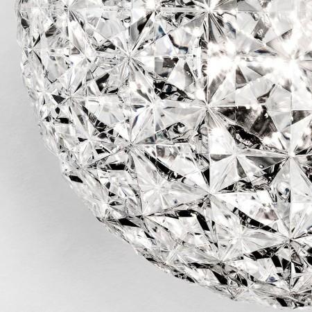 Suspension PLANET couleur cristal détails par Kartell