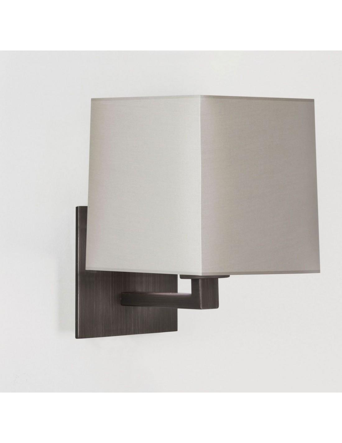 applique azumi bronze avec abat jour carr. Black Bedroom Furniture Sets. Home Design Ideas