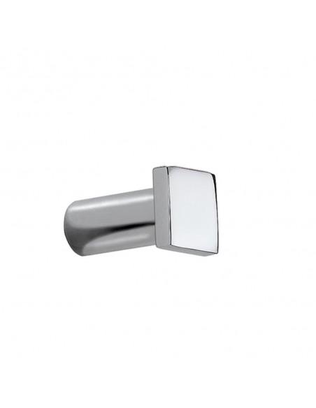 Patère Metric  en acier qui existe en finition chromé brillant et inox mat de la marque Pomd'or