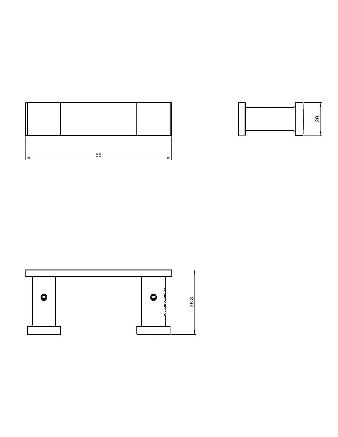 pat re double metric en finition chrom brillant et inox mat de la marque pomd 39 or. Black Bedroom Furniture Sets. Home Design Ideas