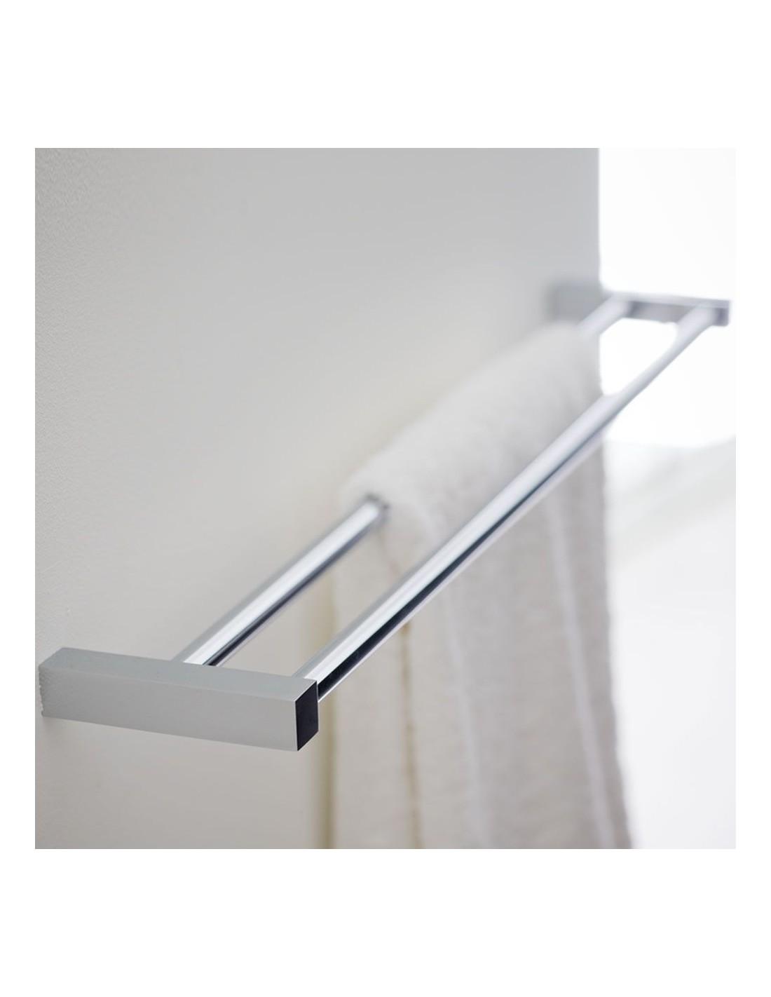 Porte serviette double 60 cm metric for Porte serviette double