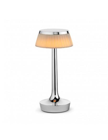 lampe sans fil bon jour chrome mat  de flos - Philippe Starck - Valente Design