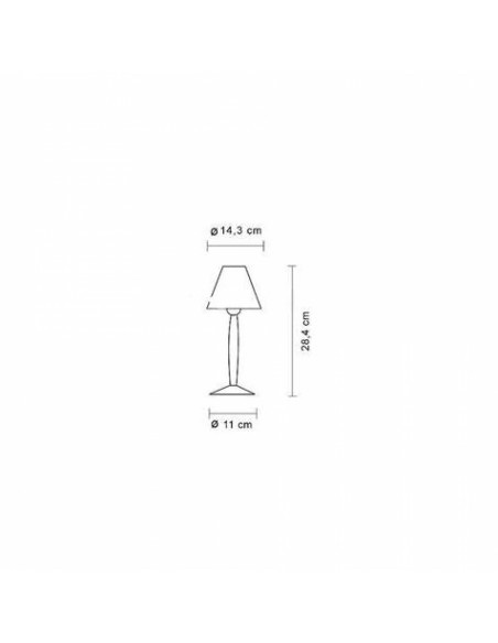 Dimension Lampe de table Miss Sissi de Philippe Starck pour flos - Valente Design