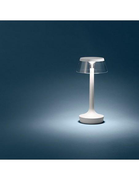 lampe sans fil bon jour blanche éclairée flos - Philippe Starck - Valente Design