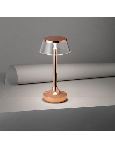 lampe sans fil bon jour cuivre éclairée de flos - Philippe Starck - Valente Design
