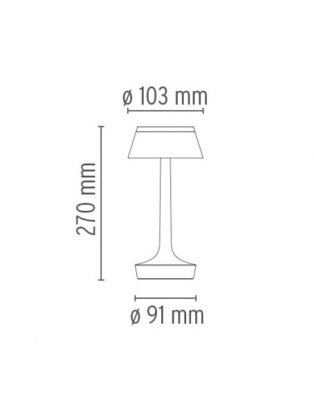 lampe sans fil bon jour plan de flos - Philippe Starck - Valente Design