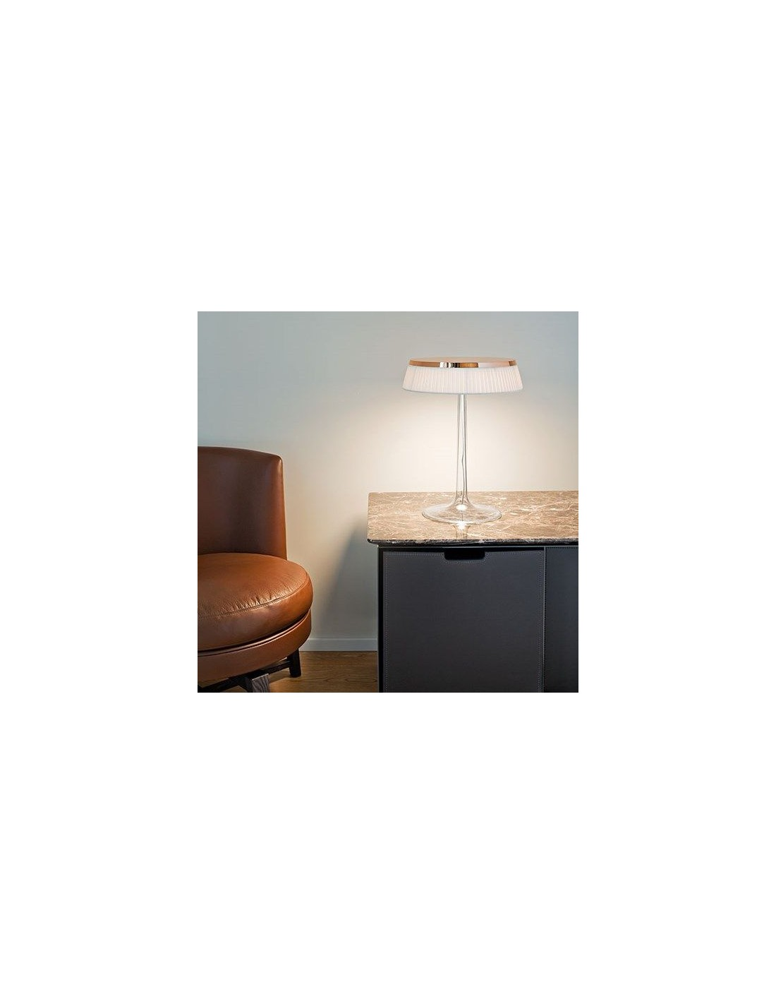 Lampe de table bon jour philippe starck mise en sc ne de flos for Lampe de table rona
