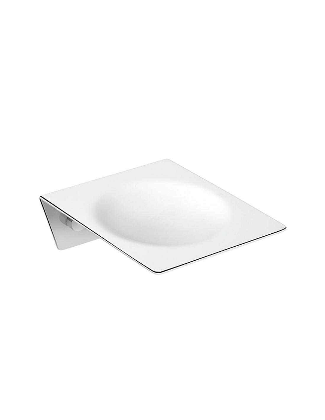 Porte savon à suspendre Kubic Dual en laiton chromé brillant de la marque Pomd'or