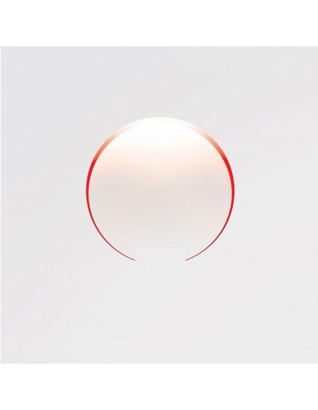 Applique murale Tokyo blanche intérieur rouge création de la marque Kinetura