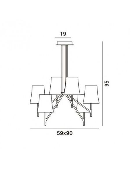 Suspension Birdie 6 foscarini plan