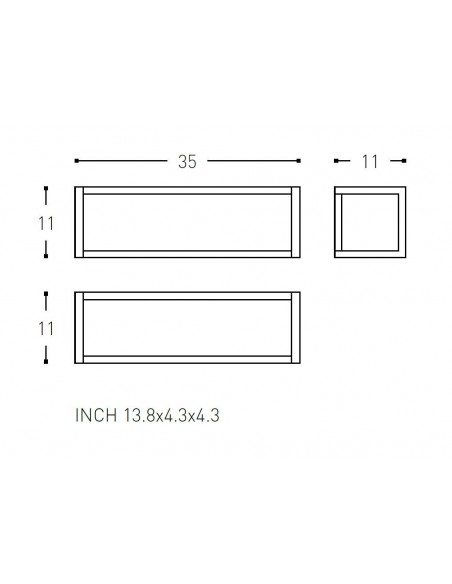 Schéma Porte serviette 35 cm et porte produits the grid