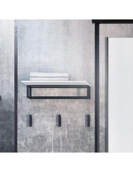 Porte serviette 35 cm et porte produits the grid